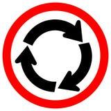 Roundabout Traffic Road Sign,Vector Illustration, Isolate On White Background Icon. EPS10 royalty free illustration