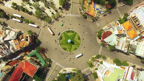 Roundabout in Vietnam. Circular movement in Asia of Nha Trang City, Vietnam stock video