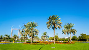 Roundabout in Zabeel district of Dubai Royalty Free Stock Images