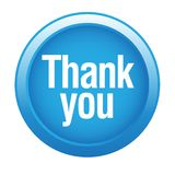 Thank you. Stamp sticker - editable vector illustration on isolated white background stock illustration