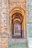 rounded archs of medieval village Stock Images