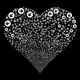 Rounded Arrow Fireworks Heart Stock Photos