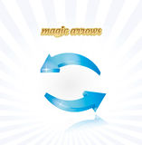 Rounded arrows Royalty Free Stock Photos