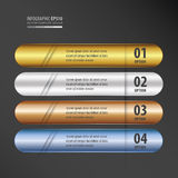 Rounded  Banner gold, bronze, silver, blue color gradient Stock Photo