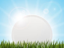 Rounded banner in grass Stock Images