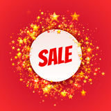 Rounded banner with Sale label. Vector Stock Image