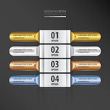 Rounded  banner set gold, bronze, silver, blue color. Vector design eps10 Royalty Free Stock Photography