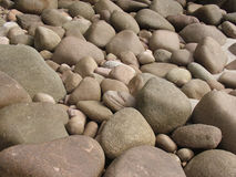 Rounded beach boulders Royalty Free Stock Photo
