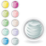 Rounded buttons in pastel tint Royalty Free Stock Image