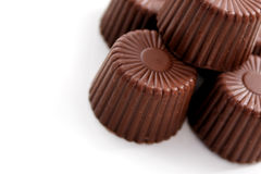 Rounded Chocolate stock photography