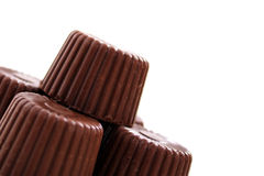 Rounded chocolate from corner stock image