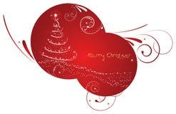 Rounded christmas background Royalty Free Stock Image