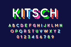 Rounded colorful retro style 3d font Royalty Free Stock Photo