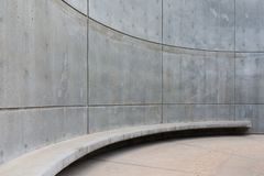 Rounded concrete wall at the Hoover Dam Stock Photos