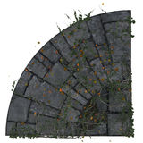 Rounded corner paving tile Royalty Free Stock Photos