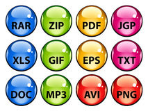 Rounded document icons Royalty Free Stock Image