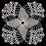 Rounded Doily Square Stock Photography