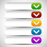 Rounded drop down button templates Stock Image