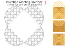 Rounded Envelope template For Laser cut Stock Photography