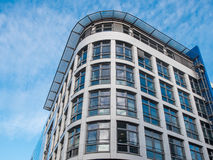 Rounded Exterior of Modern Apartment Building Stock Image