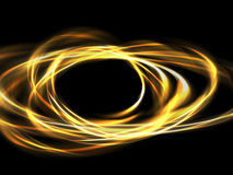 Rounded-fire. Circling fire light drawing a gold wheel Stock Images