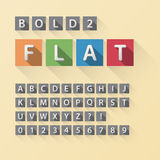 Rounded Flat Font and Numbers in Square Royalty Free Stock Image
