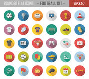 Rounded flat sport icons. Layered vector set of 35 high-quality flat icons Stock Photos