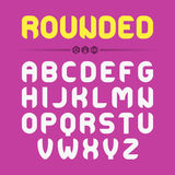 Rounded font design Royalty Free Stock Photography