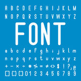 Rounded Font family and Alphabet Vector Design Royalty Free Stock Photos