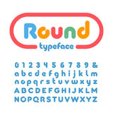 Rounded font. Vector alphabet with donut effect letters and numb. Rounded font. Vector alphabet with donut effect Stock Photo