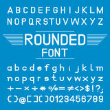 Rounded font, Vector Font Design Royalty Free Stock Photos