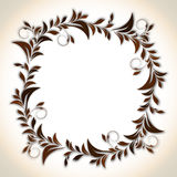 Rounded frame with flowry pattern. Stock Photography