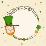Rounded frame for Happy St. Patricks Day celebration. Stock Photos