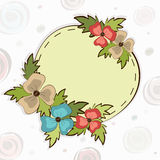 Rounded frame or sticker in kiddish style. Royalty Free Stock Photos