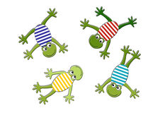 Rounded frogs stock illustration