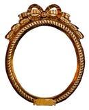 Rounded gilded frame. Beautiful rounded gilded frame isolated royalty free stock photo