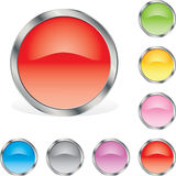 Rounded glossy buttons Royalty Free Stock Photo