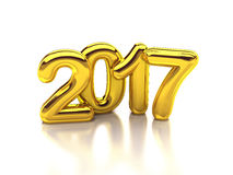 2017 Rounded gold 3d rendering. New year Royalty Free Stock Photos