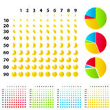 Rounded graphs Royalty Free Stock Images