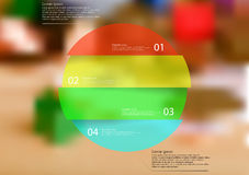 Rounded infographic template with object horizontally divided to four parts. Illustration infographic template with rounded motif, horizontally divided to four Stock Photography
