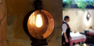 Rounded lamp. With relaxing light stock images