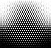 Rounded lines halftone seamless pattern. Monochrome backdrop texture, vector illustration Royalty Free Stock Photography