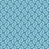 Rounded lines seamless vector pattern. Royalty Free Stock Photos