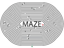 Rounded maze Royalty Free Stock Photo