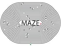 Rounded maze royalty free stock photo
