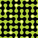 Rounded maze seamless pattern Royalty Free Stock Images