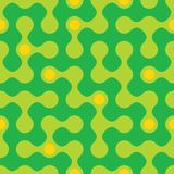 Rounded maze seamless pattern Royalty Free Stock Image