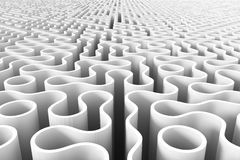 Rounded maze structure 078 Royalty Free Stock Images
