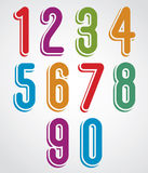 Rounded numbers set. Royalty Free Stock Photo