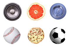 Rounded objects set Stock Images